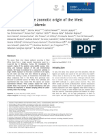 Investigating the zoonotic origin of the West African Ebola epidemic