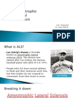 Characteristic of ALS(Amyotrophic-lateral-sclerosis)