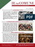 Notizie Dal Comune di Borgomanero dell'11 Luglio 2019