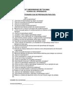 Cuestionario Guía Egel Teorías Del Aprendizaje