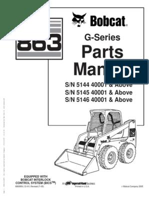 6804674 for Hydraulic Cylinder w// Zerk on Bobcat Single-Tilt Machines Rod Eye