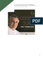 Cocimaniacos.com-Libros de Cocina La Cocina Dulce de Paco Torreblanca