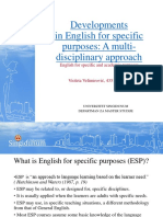 Developments in English for Specific Purposes Violeta Velimirovic