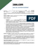 Contrato de Confidencialidad