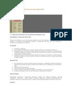 Curso de Extensión de Finanzas Avanzadas 2010