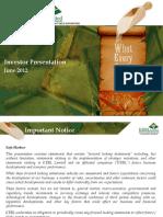 Krbl Investor Presentation June 2012