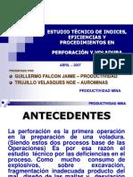 ESTUDIO TECNICO DE PERFORACION Y VOLADURA - ZONA III.ppt