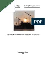 Precios Unitarios en Obras de Construcción-2