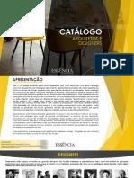 catalogo de arquitetos e designers