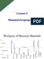 MammalZoogeography.PPT