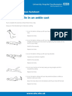 Exercises While in an Ankle Cast Patient Information