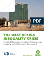 Oxfam West Africa Inequality Crisis