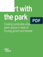 Start with the park. CABE