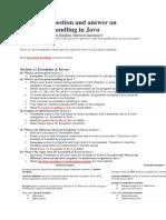 Javaexeption Handling
