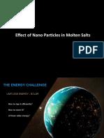 Nano Particle Enhanced Molten Salts