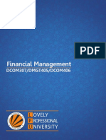 Dcom307 Dmgt405 Dcom406 Financial Management