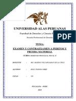 Trabajo Examen y Contraexamen Peritos