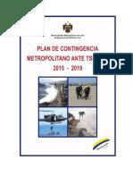 Plan de Contingencia Metropolitano Ante Tsunamis 2015. Nov 2015 - 2019