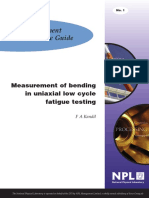 MGPG 1 - Measurement of Uniaxial Bending in Low Cycle Fatigue Testing
