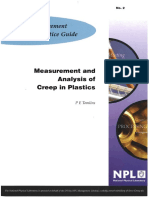 MGPG 2 - Measurement and Analysis of Creep in Plastics