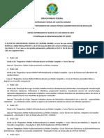 Edital Nº 4 - 2019 - Concurso TA - 1ª Retificação Do Edital Nº 1-2019