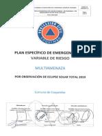 Plan Específico de Emergencia por Variable de Riesgo, Multiamenaza, por Observación de Eclipse Solar Total 2019