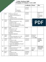 Calendario Pedagogico I Trimestre 2019