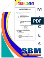 School-Based Management Table of Contents