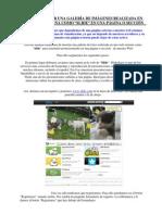 Insertar Una Galeria Realizada Desde Una Web Externa Como Slide en Una Pagina o Seccion de La Web