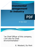 Environmental Management in Industry