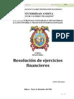 Ejercicios Financieros