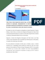 Acordo Cabo Verde & Guiné Equatorial - NEWS