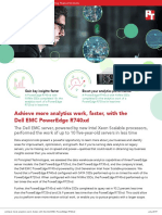 Achieve more analytics work, faster, with the Dell EMC PowerEdge R740xd