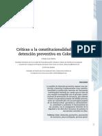 Críticas a La Constitucionalidad de La Detención Preventiva en Colombia