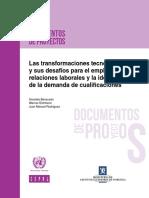 Las Transformaciones Tecnológicas y Sus Desafíos Para El Empleo
