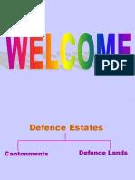 Presentation on Def Estate Matters