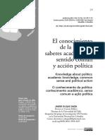 el conocimiento de la política, saberes académicos, sentido común y acción política (1).pdf