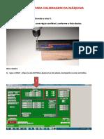 Manual Para Calibragem Das Máquinas.