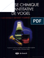 livre chimie analytique