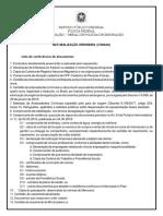 Lista de Documentos Naturalização Ordinaria