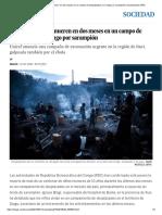 Más de Cien Niños Mueren en Dos Meses en Un Campo de Desplazados en Congo Por Sarampión _ Sociedad _ EL PAÍS