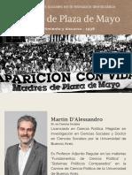 Abuelas de Plaza de Mayo presentación Martin D'Alessandro