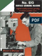 Brown & Sharpe Surface No.510 Brochure