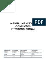 Manejo de Conflictos Interinstitucional CTC