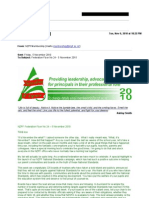 NZPF Newsletters showing donations for protest