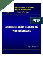 Estabilidad de Taludes Carretera Tingo Maria-Aguaytia