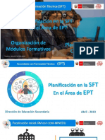 Planificacion SFT en EPT JULIO 2018