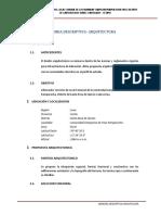 1.1. Memoria Descriptiva Arquitectura Pampacocha