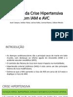IAM e AVC na crise hipertensiva