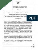 Resolucion 1715 de 2014